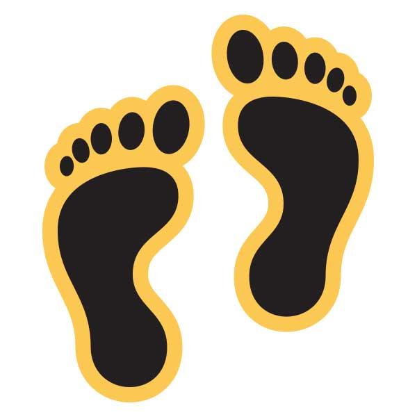 footprint sticker