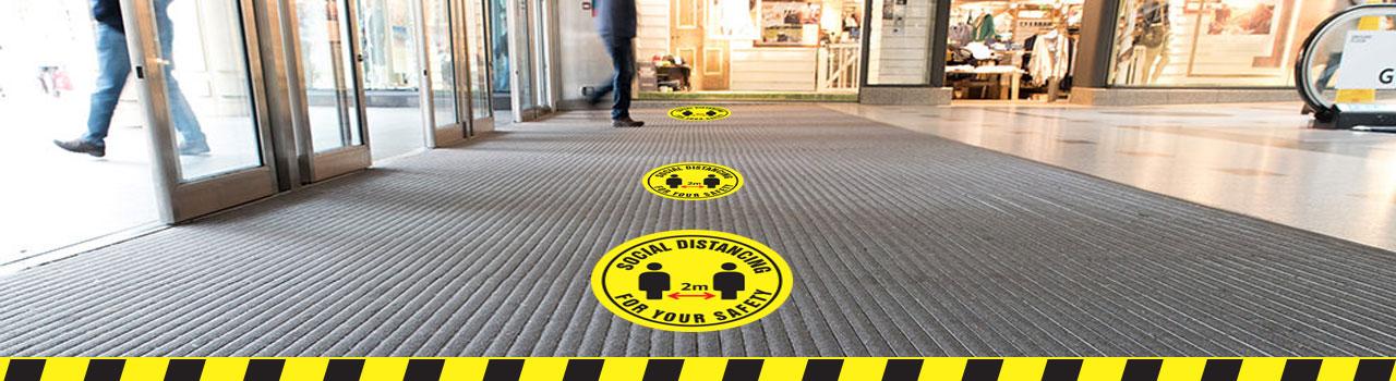 social distance decal sticker