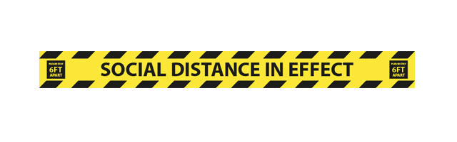 social distance strip guid sticker
