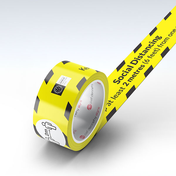 social distancing floor tape dubai