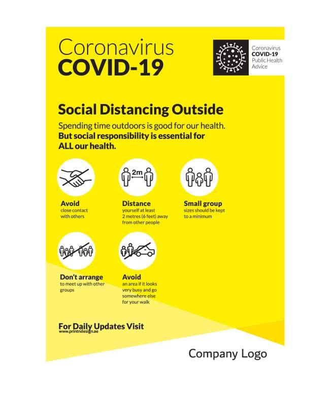 social distancing wall poster